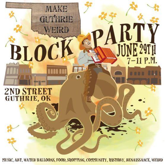 Make Guthrie Weird Block Party FB ad